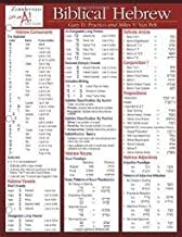Biblical Hebrew Laminated Sheet (Zondervan Get an A! Study Guides) Publisher: Zondervan; Chrt edition