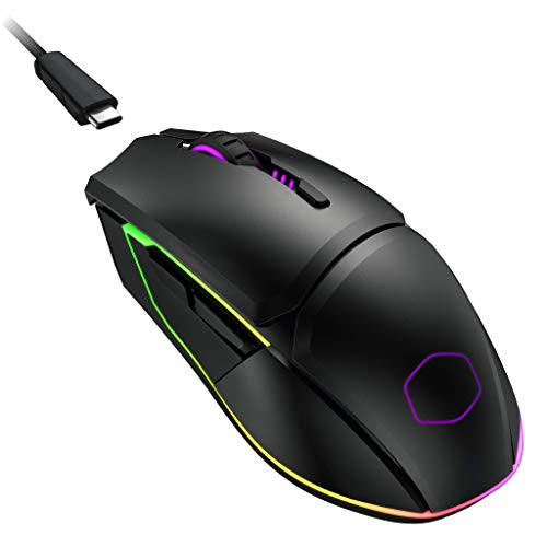 Cooler Master MM831 Gaming Mouse with 32000 DPI Adjustable via Software, 2.4GHz and Bluetooth Wireless, PBT Buttons, and Qi Charging Support