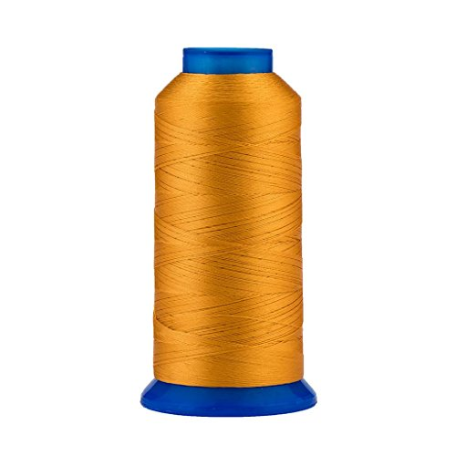 Selric [1500Yards / 30 Colors Available] UV Resistant High Strength Polyester Thread #69 T70 Size 210D/3 for Upholstery, Outdoor Market, Drapery, Beading, Purses, Leather (Cowboy Yellow)