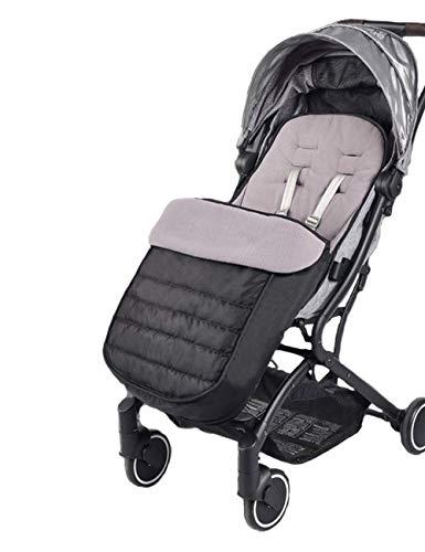 Universelle Fußsack für Kinderwagen - Winterfußsack Babydecke mit Anti-Rutschschutz, Universal footmuff Thermofußsack für Kinderwagen Sportwagen Buggy Babybett Schlitten (Schwarz)