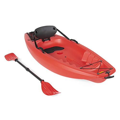 Best Choice Products 6ft Kids Kayak w/Paddle, Cushioned Backrest,...