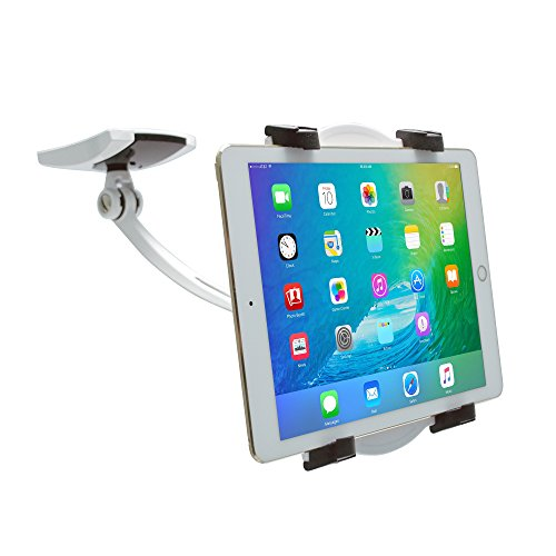 CTA Digital Wall/Under-Cabinet & Desk Mount with 2 Mounting Bases for 7-13' Tablets, Including The iPad 10.2-Inch (7th Gen.), 12.9-inch iPad Pro (2018) and 11-inch iPad Pro (2018)