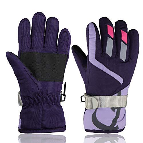 YR.Lover Children Ski Gloves Winter Warm Outdoor Riding Thickening Gloves(2-4years)