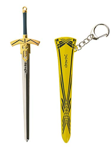 CoolChange Réplica de Espada Excalibur de Fate/Stay Night de Saber, como decoración o como Colgante, Color: Amarillo Neon