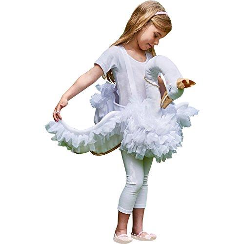 amscan RGSW Schwanen-Kostüm, Kindergröße, 1 Stück, weiß