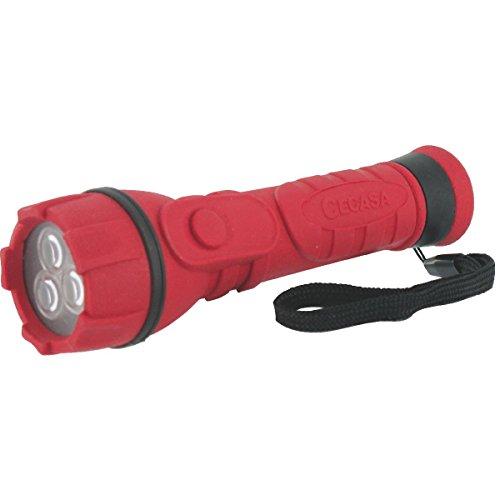 Cegasa 104153 LINTERNA PRO TUBULAR 3LED, Rojo, 16cm