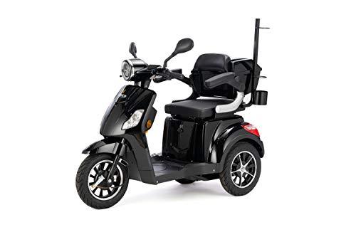 VELECO Scooter Électrique 3 Roues Senior/Pour Handicapés 800W DRACO (Noir)