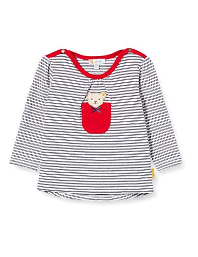 Steiff Baby-Mädchen T-Shirt Langarm Langarmshirt, Blau (Black Iris 3032), 56 (Herstellergröße: 056)