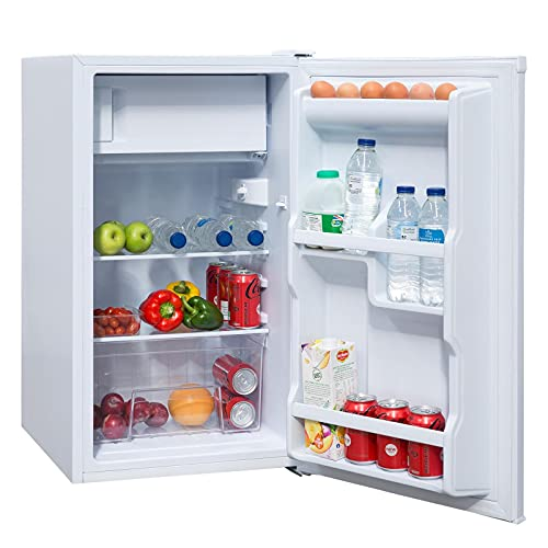 SIA LFIWH 48cm White Free Standing Under Counter Fridge With Ice Box A+ Rated