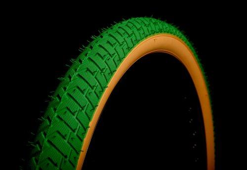 Curio UK Grün w/Gumwall BMX-Reifen 20x 2.125LS214Rampe Street Gewinde
