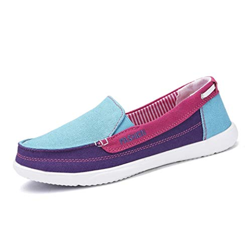 Jwans Damen Canvas Schuhe Mix Farbe Casual Low Top Flat Loafers Damen Atmungsaktive rutschfeste leichte Walking Sneakers