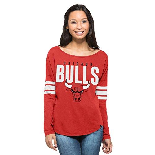 NBA - Camiseta para Mujer '47 Courtside, Mujer, NBA Women Courtside, Rebound Red, Large