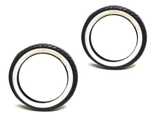 Weißwand Reifen Satz Kenda 2.75-17 Zoll 41P TT für Zündapp Hercules Kreidler Mofa Moped Mokick (2 3/4-17)