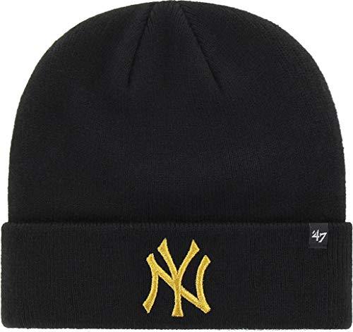 '47 Gorro (Beanie) Brand MLB New York Yankees Metallic Negro OSFA (Talla...