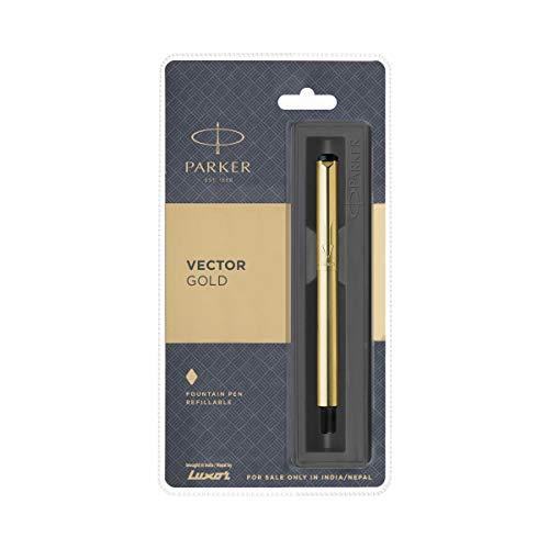 Black Body Roller Ball Pen Blister Pack GT Parker Galaxy Standard Gold Trim