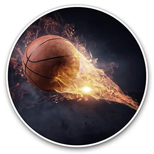 Impresionante vinilo pegatinas (juego de 2) 7,5 cm – flamante pelota de baloncesto deportes divertidos calcomanías para portátiles, tabletas, equipaje, chatarra de reservas, neveras, regalo fresco #2572