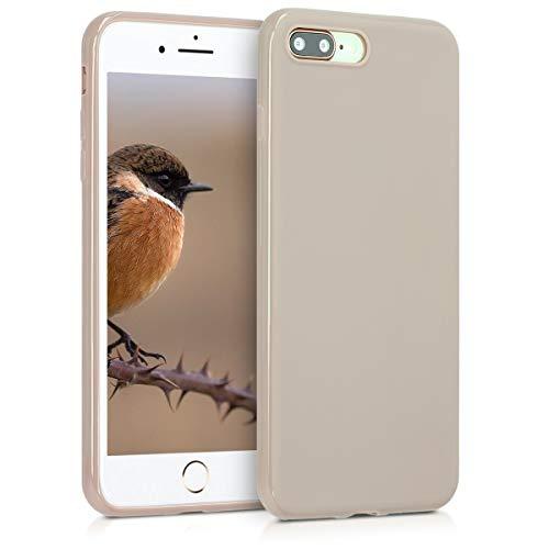 kwmobile Hülle kompatibel mit Apple iPhone 7 Plus / 8 Plus - Handyhülle - Handy Hülle in Creme matt