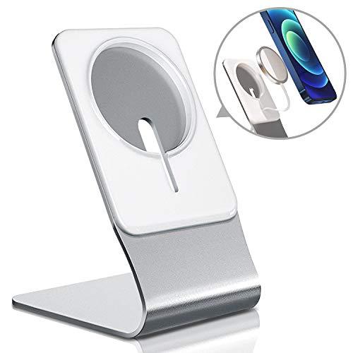 volport Ständer für MagSafe Ladegerät, Magsafe Handy Halterung für Apple iPhone 12, Mag Safe Stand Handyhalter für Wireless Charger Tisch Schreibtisch Halter für iPhone 12 Pro 12 Pro Max 12 Mini