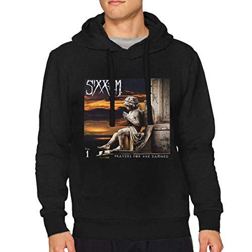 Ytdbh Herren Hoodie Kapuzenpullover, Sixx Am Prayers for The Damned Man Loose Long Sleeve Hooded Sweatshirt