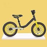 FMGFGFMG Bicicleta de equilibrio para niños sin pedal, bicicleta de bebé de 3 a 7 años con neumáticos (color: amarillo)