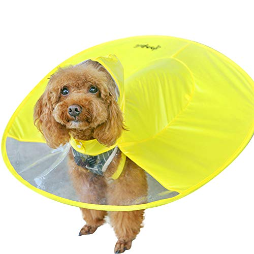 BIZAR Pet Dog Rain Umbrella Hat Outdoor Rain Snow Wet Weather Folding Waterproof Cap Raincoat for Small Dog