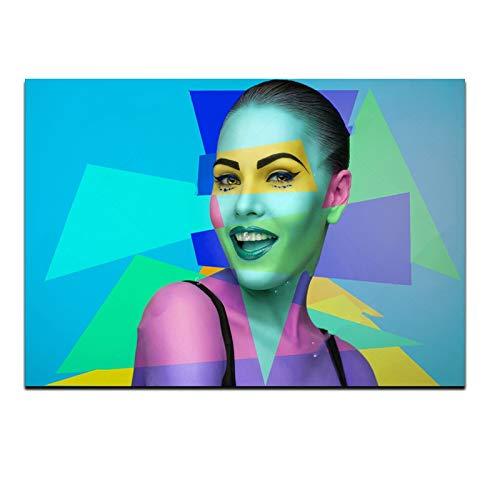 baodanla Nessuna corniceFashion Makeup Girl Wall Art Decorative NG for Living Room,Girl's Room Canvas Prints Modern Girl Picture Home Decor40x60cm