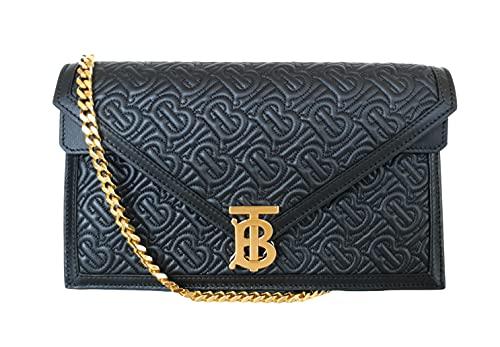 BURBERRY Bolso bolso bandolera acolchado TB envelope 8033279 negro de piel