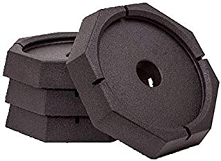 SnapPad Xtra Permanently Attached RV Leveling Jack Pad for 9 inch Round Landing Feet (4-Pack)