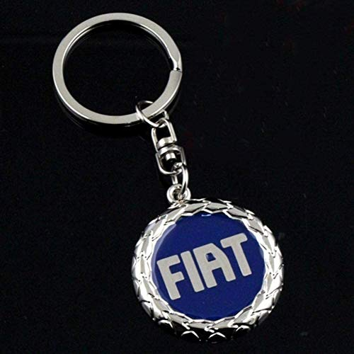 Llavero, Llavero, cadena pendiente personalizada de gama alta regalo Variedad clave Fit For la insignia del coche Fiat metal llavero Hombres cintura accesorios colgantes del coche, color: 2 Llavero de
