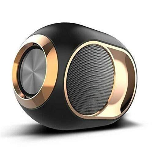 LCSD Altavoz inalámbrico de alta gama, altavoz Bluetooth Bass Golden Egg con Bluetooth, altavoz estéreo inalámbrico ultra portátil, resistente al agua, 108 dB portátil al aire libre (color: negro)