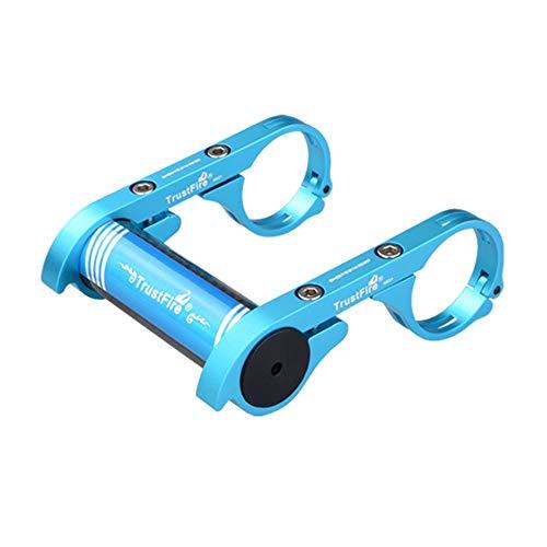 TrustFire HE01 - Soporte para Manillar de Bicicleta, para luz de Bicicleta, Linterna, cronómetro, Dispositivos GPS, cámara Deportiva o Smartphones, Color Negro, Azul y Rojo, HE01-Blau