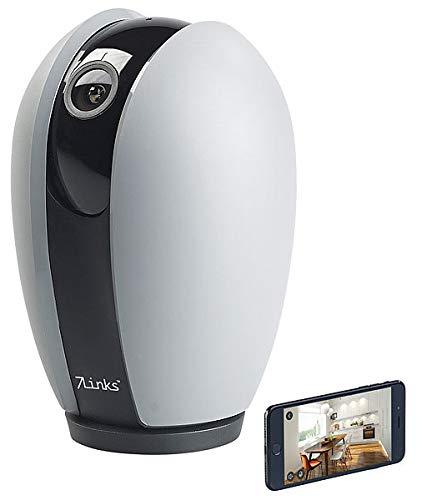 7links Kamera innen: WLAN-HD-Überwachungskamera, App, Nachtsicht, Pan/Tilt, für Echo Show (WLAN Kamera Alexa)