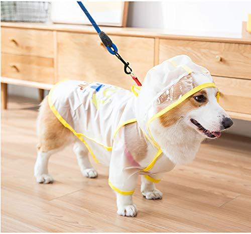 Modow Huisdier Hond Dun Regenjas Poncho Ontworpen voor Corgi, Lichtgewicht Ademende Regenjas Kleding met Transparante Hoed, Geschikt voor Alle Corgi Honden