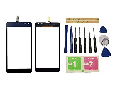 Flügel für Microsoft Nokia Lumia 535 Version 2S CT2S1973FPC-A1-E Touchscreen Display Digitizer Glas Schwarz Bildschirm Frontglas (Ohne LCD) Ersatzteile & Werkzeuge & Kleber