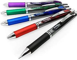 Energel BL80 Retractable Liquid Gel Ink Rollerball Pen - 1.0mm - 1 of Each Colour - Pack of 5