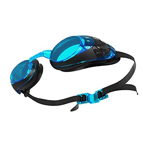 Gafas De Natación Adulto Natación Gafas De Natación Hombres Y Mujeres Impermeable Anti-Fog Anti-UV Natación Azul Gafas