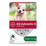 K9 Advantix II Flea and Tick Protection for Small Dogs weighing less than