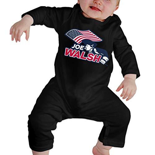 U are Friends Joe-Walsh Body pour bébé Nouveau-né Gilr's Boy Enfants à Manches Longues pour Tout-Petit(18M,Noir)