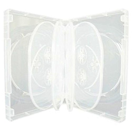 DragonTrading - 1 caja de almacenamiento para 10 unidades de CD/DVD/Blu-ray, 36mm, color transparente
