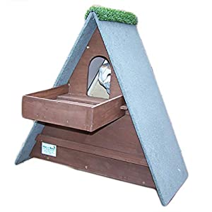 Barn Owl Nest Box With Shelf (Dark Brown)