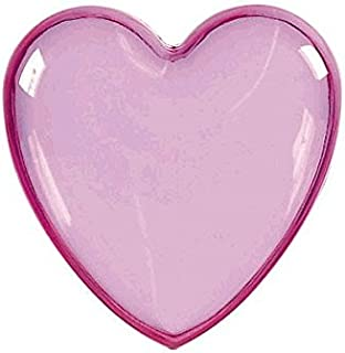 Heart-Shaped Plastic Container   Pink   Party Accessory