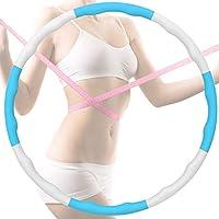 Aoweika Hula Hoop zur Gewichtsreduktion,Reifen mit Schaumstoff ca 1 kg mit Mini Bandmaß, Einstellbares Gewicht 19-35 in...