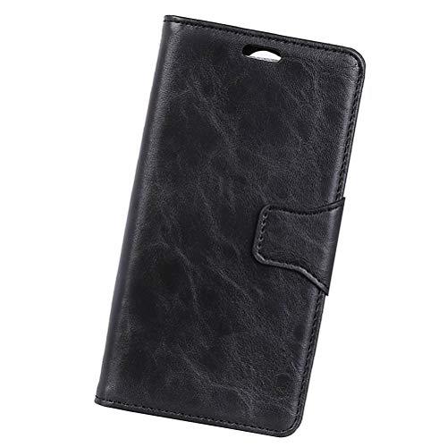 VILLCASE - Funda de piel para Vodafone Smart V8 (negro) negro negro