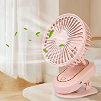 クリップ 扇風機 卓上扇風機 自動首振り 超強風 小型扇風機 静音 usb 扇風機 風量3段階調節 折りたたみ式 長時間連続使用 節電 ミニ扇風機 (ピンク)