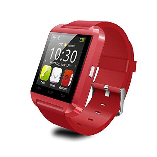 Topshows U8 Smartwatch für Android, Rot
