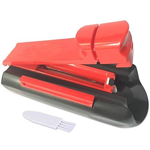 JIXIN Cigarrillo Manual Inyector De Tabaco Máquina De Laminación Tubo Único Máquina De Llenado De Rodillos Fumador,Rojo