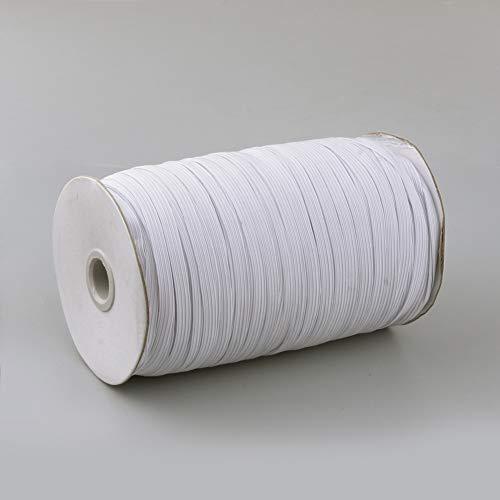 Airssory 200-Yard/600 Stretch Flat Braided Elastic Cord 5mm Wide for Clothing Sewing Craft DIY Handmade Crafts