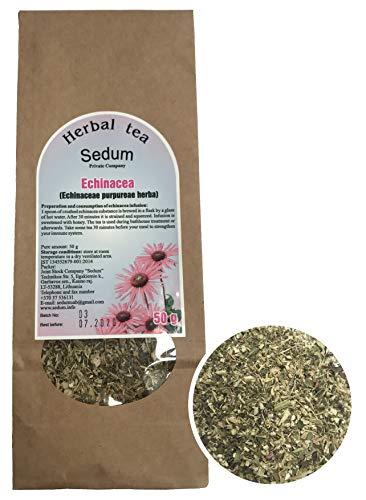 Sedum Kräutertee - Echinacea pur - Geschmackvoller, Natürlicher Kräutertee für die Sauna - Erfrischender und Entspannender Tee - Handgehabt in der EU - 50g