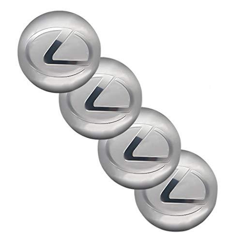 tieoqioan Piezas de automóvil 4 Piezas de Pegatinas de Rueda de Coche de 65mm Cubierta de Cubo Central Pegatinas de Insignia de Logotipo de Coche para Pegatinas de modificación de Logotipo Lexus