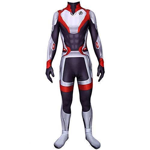 Avengers 4 Superheld Erweiterte Tech-Kostüm, Erwachsene Kinder Film Cosplay Kleidung, Kinder-Strampler Weihnachten Halloween Film Kostüm,Male-XL